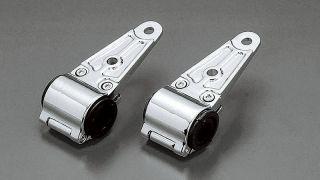 ヘッドライトステー アルミダイキャスト/メッキ 28-39mm