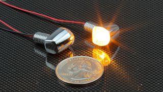 ウインカーランプ Nano シングル クロームメッキ LED 12V1.5W 2個入り